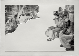 Crowds with Shape of Reason Missing, Example 5, John Baldessari