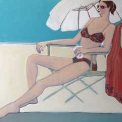 Girl at Beach, Claire Felson