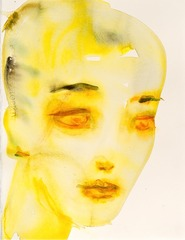 3/4 Portrait Yellow, Kim McCarty