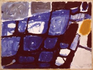Blue and Ochre Still Life, William Scott