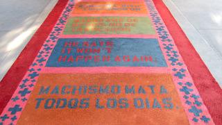 Alfombra Domestica (domestic rug detail), Nery Gabriel Lemus