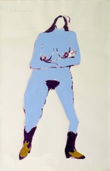 Blue Cowgirl, Fritz Scholder