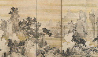 Landscape of Mountains and River, Soga Shohaku