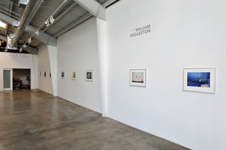 Installation image from exhibition, William Eggleston