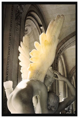 Cupid with his wings on fire, Le Louvre , Nan Goldin