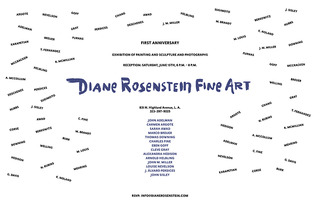 First Anniversary Exhibition poster, courtesy of Diane Rosenstein Fine Art,