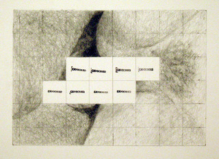 censored grid #7, Betty Tompkins