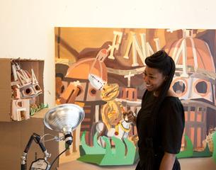 Caitlin Cherry in her studio,