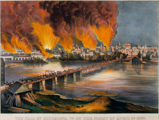The Fall of Richmond, Virginia on the Night of April 2nd, 1865 ,