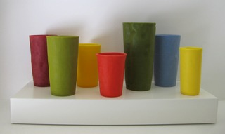 "UNTITLED (7 Tumblers on a 18"" X  9"" shelf), George Stoll"