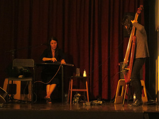 duo performance with Margarida Garcia, Trem Azul, Lisbon , crys cole