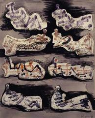 Eight Reclining Figures No. 1, Henry Moore