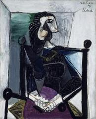 Woman in armchair, Pablo Picasso