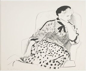 Celia in an Armchair,  , David Hockney