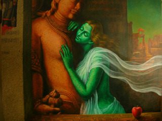 God and Nature (detail)  , Dipak Kundu