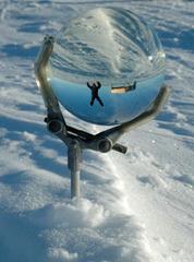 Ice Blink: Self Portrait, Halley Research Station, Antarctica, 12.05am, Simon Faithfull