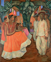 \'Dance in Tehuantepec (Baile in Tehuantepec) , Diego Rivera
