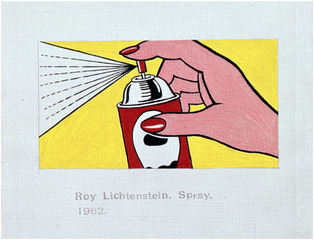"[detail] Roy Lichtenstein. ""Spray. 1962."" , Richard Pettibone"