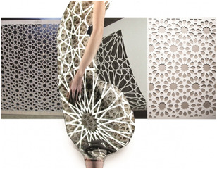 rendering of laser-cut dress for MER KA BA, Gabriel Asfour, Angela Donhauser, Adi Gil