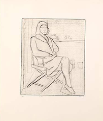 #12 (Phyllis on outside deck), from the portfolio 41 Etchings Drypoints, Richard Diebenkorn