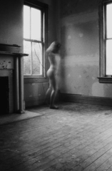 Self portrait as a nude blur at 17, Logan White