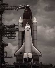 Endeavour on her pad, Dan Winters