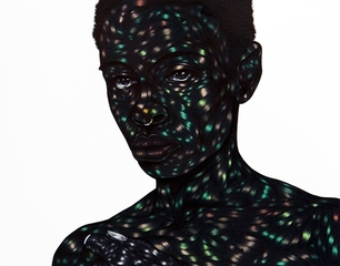 """Everything she is can only be a fraction of what I am"" , Toyin Odutola"