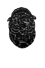 Untitled (Mask 1) ,Toyin Odutola