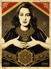 Peace and Justice Woman (Edition 9/10), Shepard Fairey