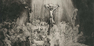 "Christ Crucified between the Two Thieves (""The Three Crosses"") (detail), Rembrandt van Rijn"