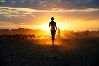 Running At Sunset, Steve McCurry
