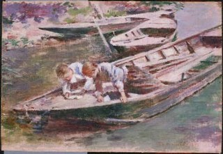 Two in a Boat , Theodore Robinson