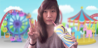 Self-portrait with Slurpee , Laura Hyunjhee Kim