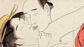 detail taken from Sode no maki (Handscroll for the Sleeve), Torii Kiyonaga
