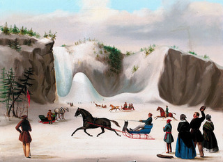 Corbeau at Montmorency Falls , Robert Clow Todd