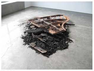 Burned Baby Grand, Douglas Gordon