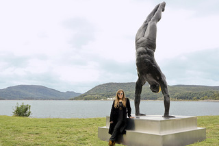 The Golden Mean as installed in its permanent location at Riverfront Green Park, Peekskill, NY , Carole Feuerman