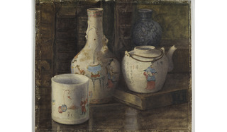 Still life with Chinese porcelain, Ethel Nicholls