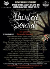 Painted Sound curated by Ixie Darkonn and Alexandra Mazzanti,