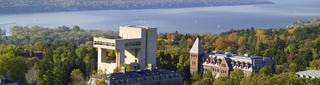 Cornell Arts Quad and Cayuga Lake,