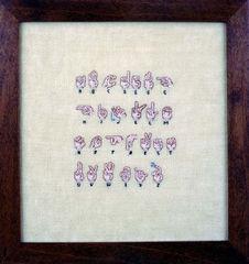 Sign Language, Elaine Reichek
