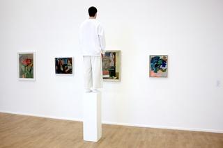 Exhibition view, Donna Huanca, Ida Ekblad, Ragnhild Kaarbø