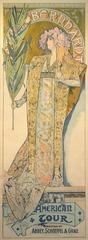 Sarah Bernhardt, American Tour, Alphonse Mucha