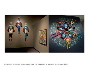 "Installation shots from museum show ""The Empathics"" at Montclair Art Museum, Saya Woolfalk"