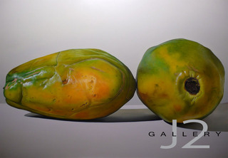 5 / 16 Papayas, 2007 Oil on board 36 x 48in., Kevork A. Cholkian
