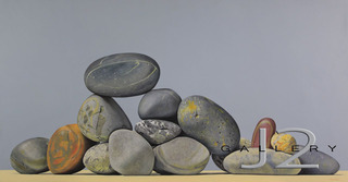 Rock Formation, 2010 Oil on Board 23 x 44in., Kevork A. Cholkian