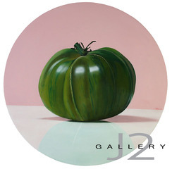 Spring Tomato, 2009 Oil on Board 20in., Dia., Kevork A. Cholkian