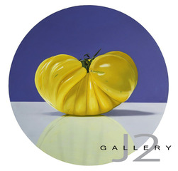 Summer Tomato, 2009 Oil on Board 20in., Dia., Kevork A. Cholkian