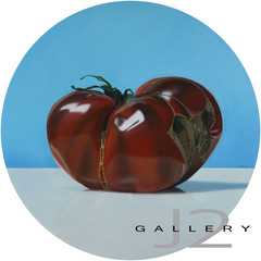 Winter Tomato, 2009 Oil on Board 20in., Dia, Kevork A. Cholkian