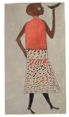 Untitled (woman with bird), Bill Traylor